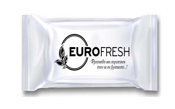 Αρωματική Πετσέτα Μικρό Μέγεθος – Λευκή Συσκευασία - Διαθέσιμα Χρώματα Εκτύπωσης: Μαύρο, Κόκκινο, Μπλέ, Πράσινο, Καφέ